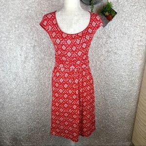 Boden Red & White Dress | 4